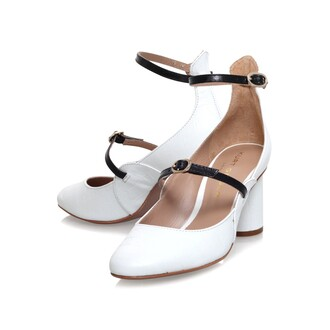 shoes white patent shoes mary jane low heeled mary janes cross strap shoes two strap shoes black and white monochrome kurt geiger