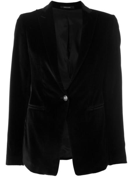 blazer women spandex cotton black velvet jacket