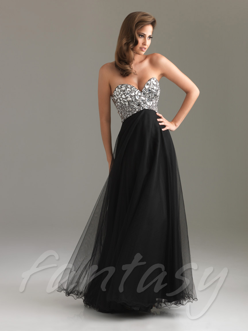 Black Jeweled Formal Evening Ballgown Party Prom Dress Sz 6 8 10 12 14 16 | eBay