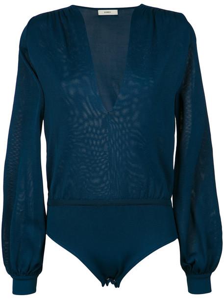 EGREY body women spandex blue knit underwear