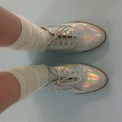 shoes,grunge,pale grunge,oxfords,rainbow,socks,tumblr pale,kawaii,pale,tumblr shoes,white dress