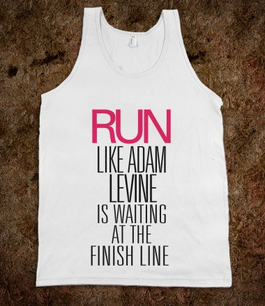 Run like Adam Levine is waiting at the finish line - Awesome fun #$!!*& on Wanelo