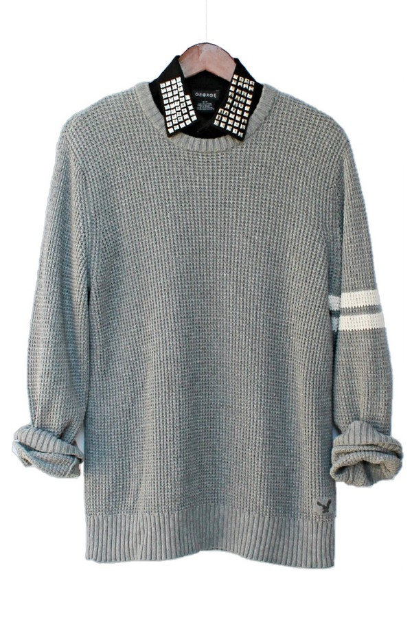 justvu.com american eagle outfitters sweater pullover thermal mens sweater menswear fall outfits studs stripes winter sweater winter outfits streetwear blogger hipster
