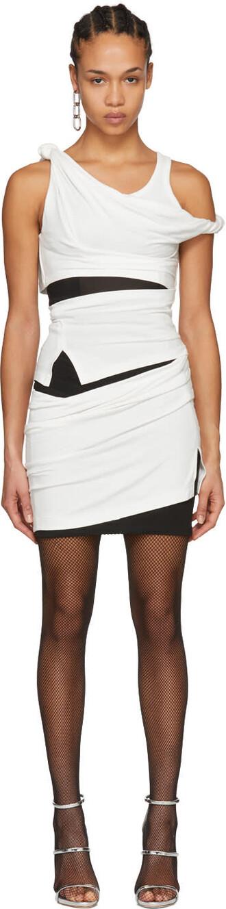 dress white black off-white