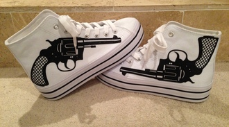 shoes pumps high top sneakers sneakers platform sneakers platform shoes gun white black