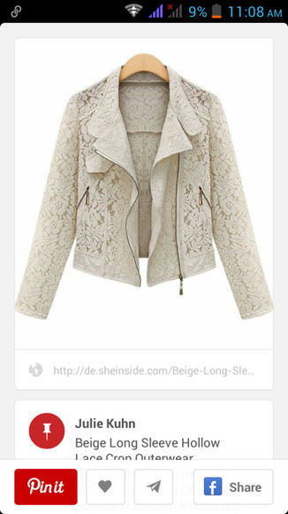 jacket white jacket cute jacket moto jacket lace jacket outerwear style zip biker jacket