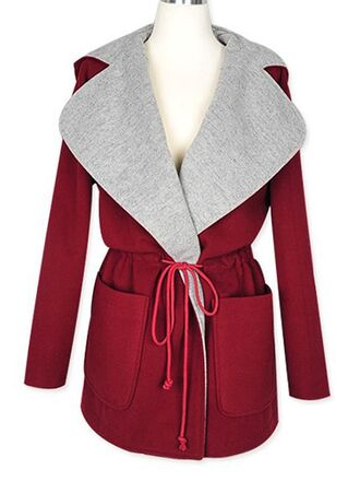red coat vintage block coat winter/autumn