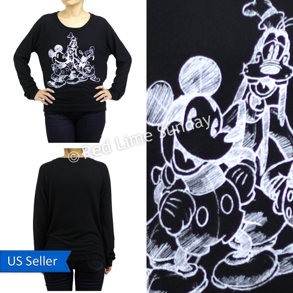 Disney Mickey Mouse and Friends Goofy Donald Duck Print Sweater Sweatshirt Top