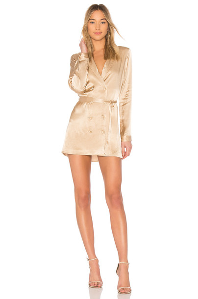 L'Academie The Sophie Dress in metallic / neutral