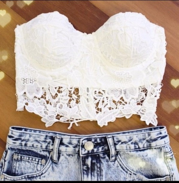 Kylie sexy laces cropped top (2 colors available)