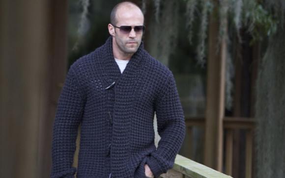 mechanic sweater jason statham cardigan knitwear