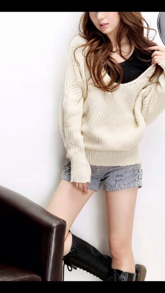 sweater clothes fashion winter sweater hoodie cute fall outfits kawaii girly top t-shirt beige