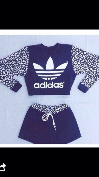shorts adidas shirt short shorts short top jumper jacket sweater sweatshirt black white blue navy leopard print instagram fashion indie