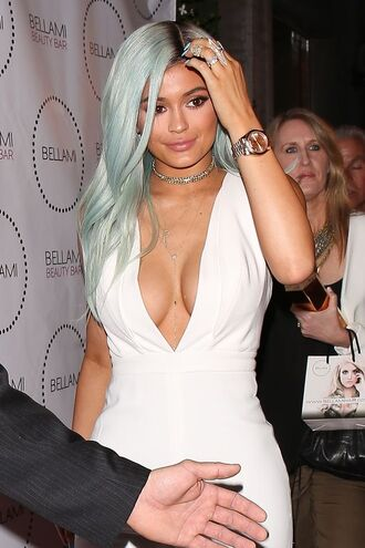 jewels kylie jenner watch necklace jumpsuit choker necklace ring jewelry silver choker