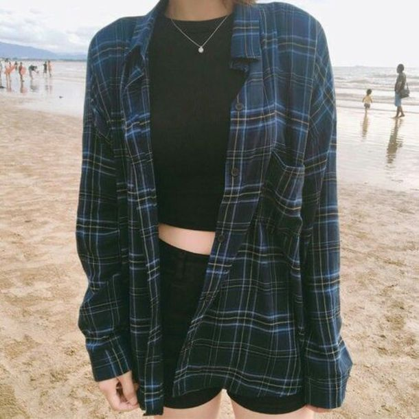 jacket tumblr flannel grunge