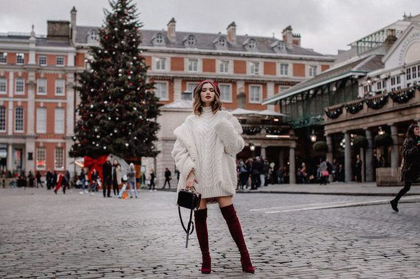 lolita mas blogger dress coat bag shoes sweater sweater dress winter outfits teddy bear coat boots over the knee boots