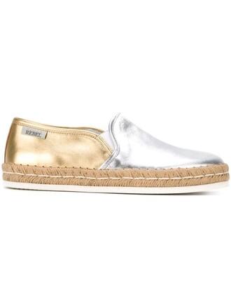 metallic espadrilles shoes