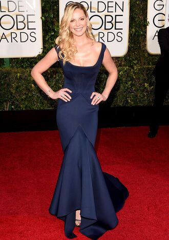 dress katherine heigl golden globes 2015 zac posen