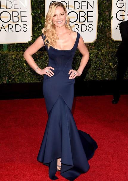 dress katherine heigl Golden Globes 2015 zac posen