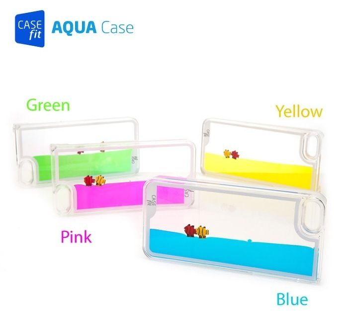 New iPhone 5 5S Cool Liquid Swimming Fish Aquarium Tank Transparent Hard Case | eBay