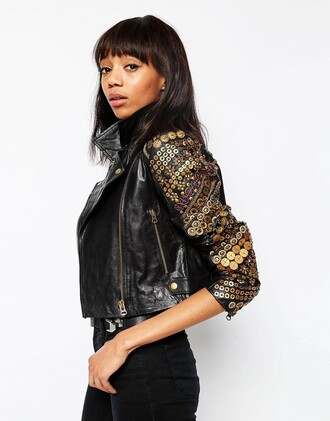 jacket asos black jacket