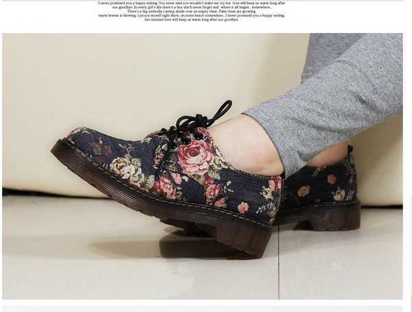 shoes floral vintage retro