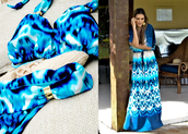 swimwear,bikini,blue,tie dye