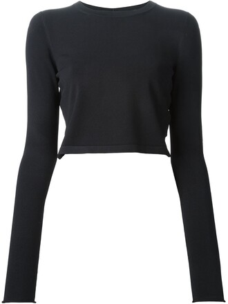 sweater cropped sweater cropped women blue