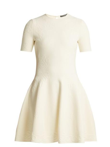 Alexander Mcqueen - Embossed Knit Dress - Womens - Ivory