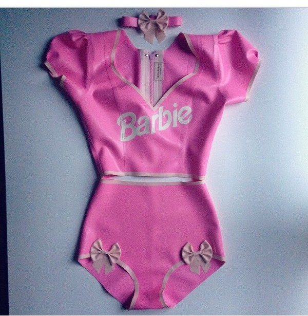 Barbie Doll Inspired Latex Costume Pandora Deluxe