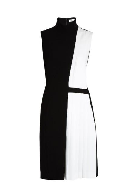 MUGLER dress pleated high white black
