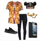 black,vans,converse,shirt,t-shirt,leather,leather pants,jewels,octopus,leather leggings,iphone,polyvore,outfit