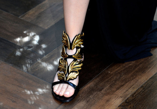 shoes gold khloe kardashian sandals