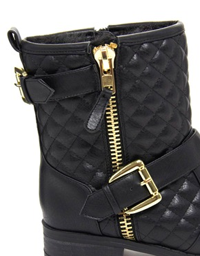 River Island | River Island Quilted Biker Boot at ASOS