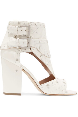 studded quilted sandals leather sandals leather white off-white shoes