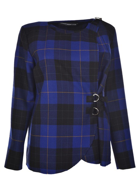 Department 5 top plaid top plaid