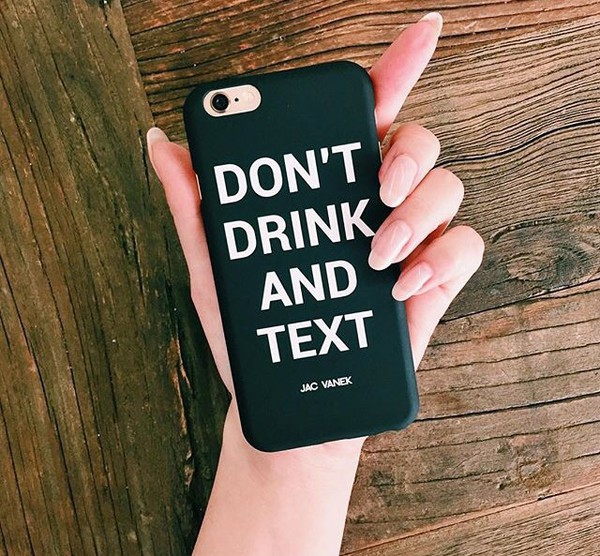 don 39 t drink and text iphone6 case. Black Bedroom Furniture Sets. Home Design Ideas