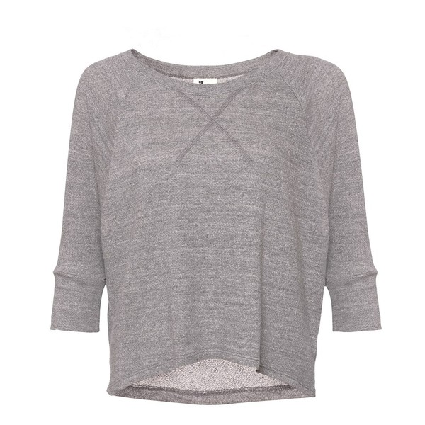 L'agence Grey Cotton Sweatshirt Top - Polyvore