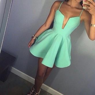 dress coral green cage dress beutiful dress short dress party summer dress