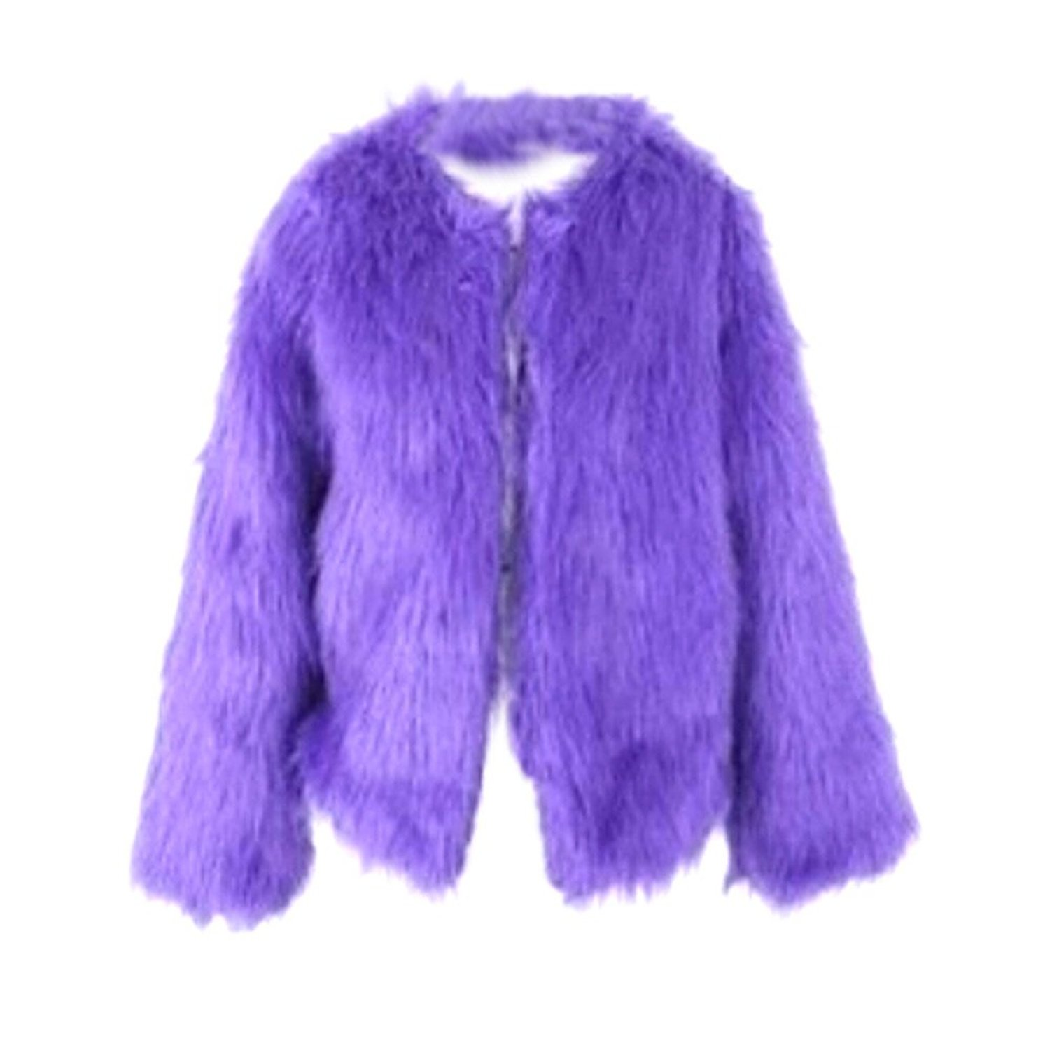 Etosell Chic Lady Faux Fur Coat Long Hair Jacket Winter Outerwear Overcoat at Amazon Women's Clothing store: