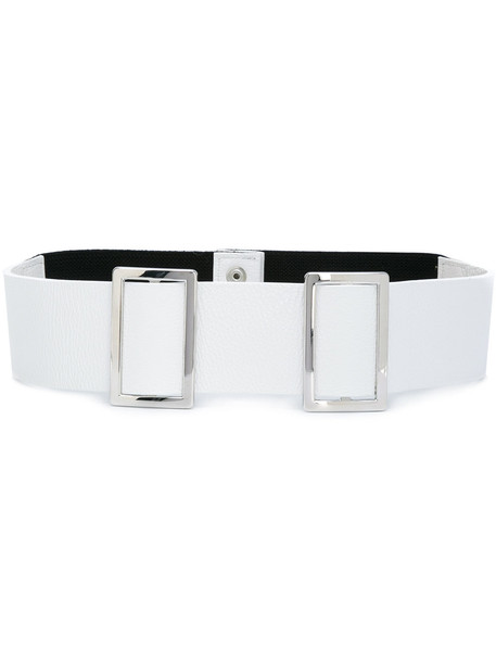 double buckle belt belt white