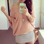 sweater,brands,clothes,beige,off the shoulder sweater,oversized sweater,jewels,top