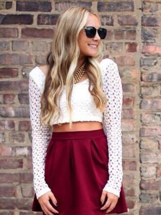 skirt red lovely need