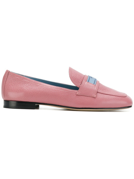 women loafers leather purple pink shoes