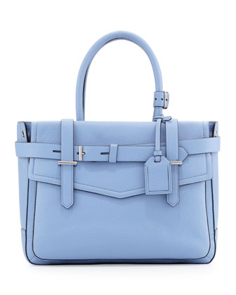 Reed Krakoff Boxer Pebbled Leather Tote Bag, Blue - Neiman Marcus