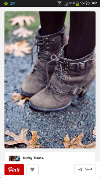 boots combat boots work boots fall outfits lace up high heels fall outfits buckels shoes brown ankle boots buckle heals