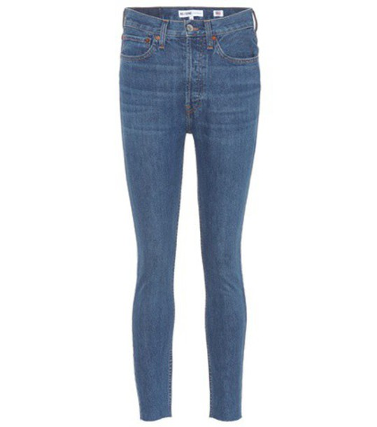 Re/Done jeans skinny jeans high blue