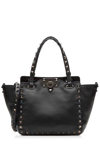mini noir leather black bag