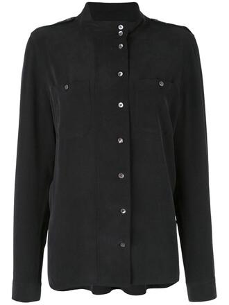 shirt button up shirt women silk grey top