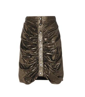 miniskirt metallic silk skirt